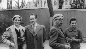 G. Gunnarsson и A. Stender-Petersen с супругами
