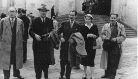 E. Lo Gatto, Д. С. Лихачев, G. Gunnarsson с супругой и И. Н. Голенищев-Кутузов